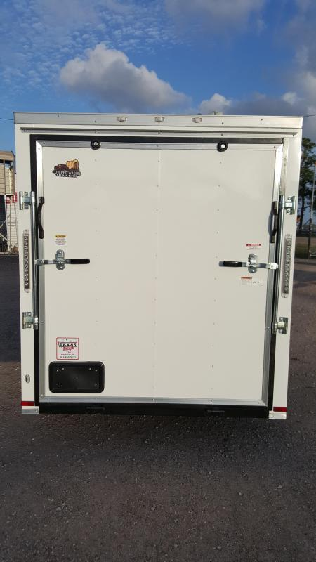 "2019 Covered Wagon Trailers 6x12 Single Axle Cargo Trailer / Enclosed Trailer / 6'3"" / Ramp / RV Side Door / LEDs"