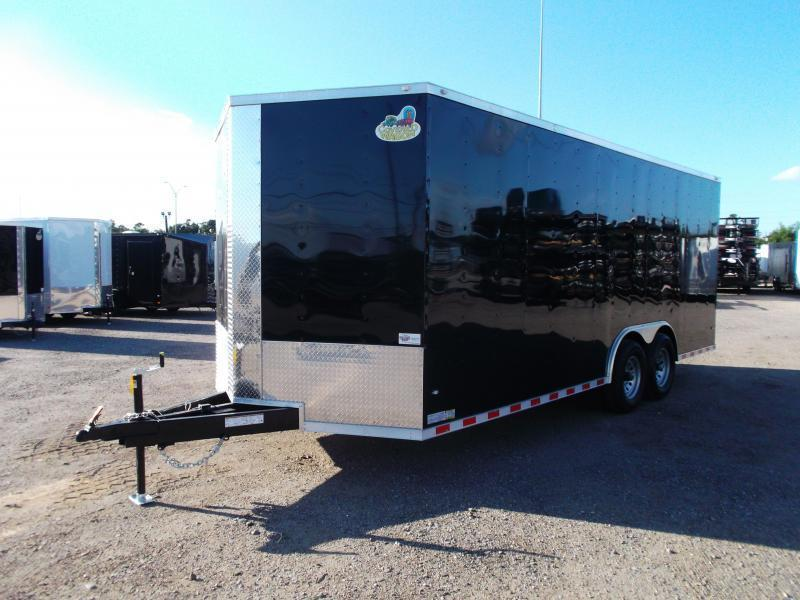 SPECIAL - 2019 Covered Wagon Trailers 8.5x20 Tandem Axle Cargo / Enclosed Trailer / 7ft Interior Height / 7000# Torsion Axles / Heavy Duty Ramp / LEDs