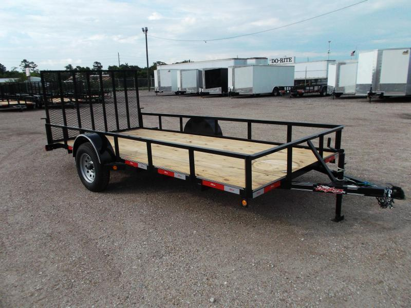 2018 Longhorn Trailers 77x14 Single Axle Utility Trailer w/ 4ft Heavy Duty Ramp Gate