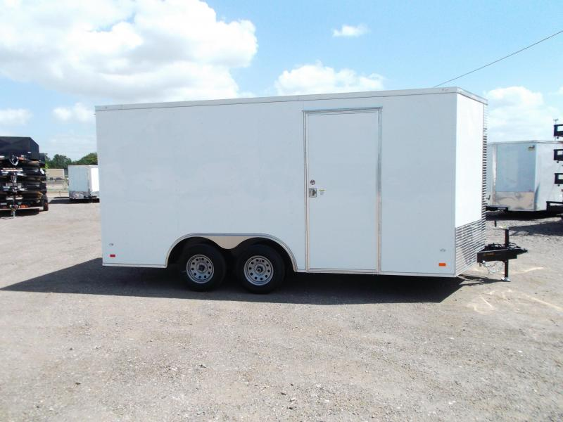 2018 Covered Wagon Trailers 8.5x16 Tandem Axle Cargo / Enclosed Trailer / 7ft Interior / Ramp / RV Side Door / LEDs