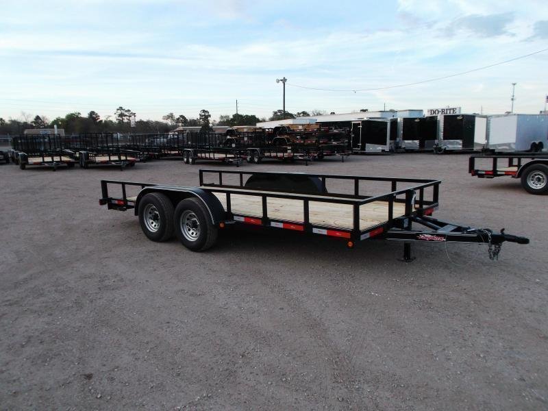 2019 Longhorn Trailers 83x16 Utility Trailer / 5200# Axles / 5ft Slide Out Ramps / 7K Jack / Electric Brakes