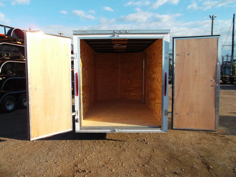 "2019 Texas Select 6x12 Single Axle Cargo Trailer / Enclosed Trailer / 6'3"" Interior / Barn Doors / Side Door / LEDs"