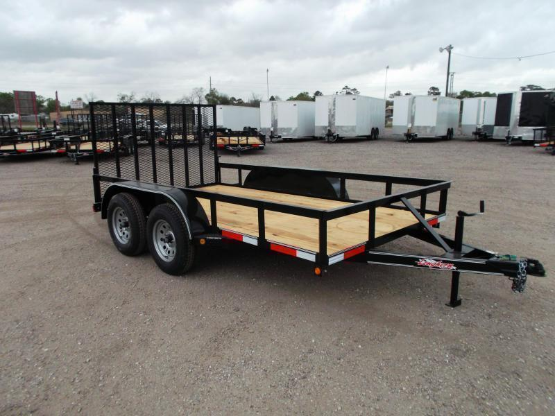 2018 Longhorn Trailers 12ft Tandem Axle Utility Trailer w/ Heavy Duty 4ft Ramp Gate