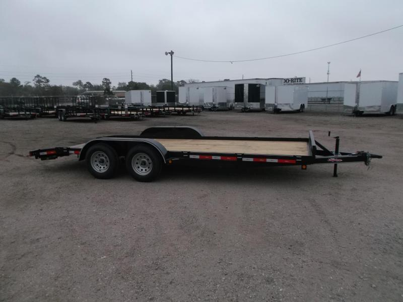 2019 Longhorn Trailers 18ft 7K Car Hauler Trailer / Race Car Trailer / 2ft Dovetail / 5ft Ramps / Brakes