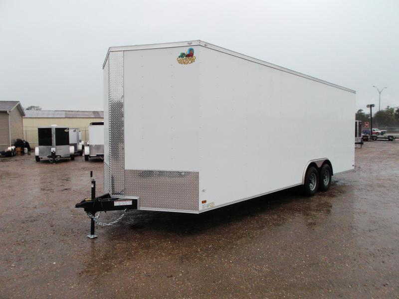 "SPECIAL - 2019 Covered Wagon Cargo 8.5x24 Tandem Axle Cargo Trailer / Car Hauler w/ 7'6"" Interior / 5200# Axles / Heavy Duty Ramp / RV Side Door / LEDs"