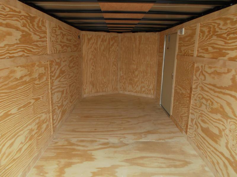 2019 Covered Wagon Trailers 7x16 Tandem Axle Cargo Trailer / Enclosed Trailer / Ramp / RV Side Door