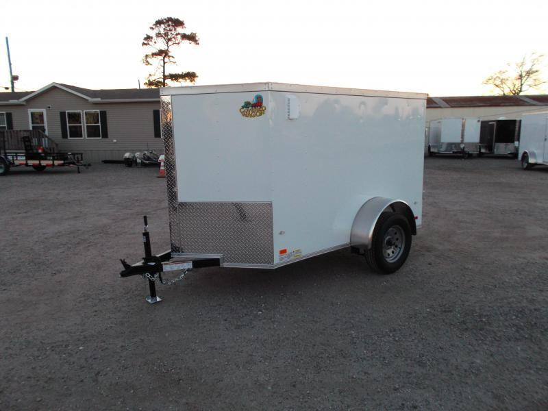 2019 Covered Wagon Trailers 5x8 Single Axle Cargo Trailer / Enclosed Trailer / Ramp / RV Side Door / LEDs
