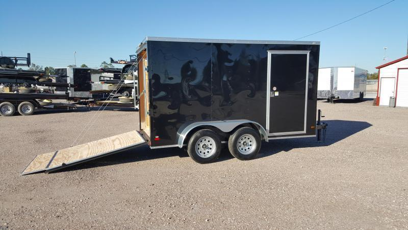 2018 Covered Wagon Trailers 6x12 Tandem Axle Cargo Trailer / Enclosed Trailer / Ramp / RV Side Door / LEDs