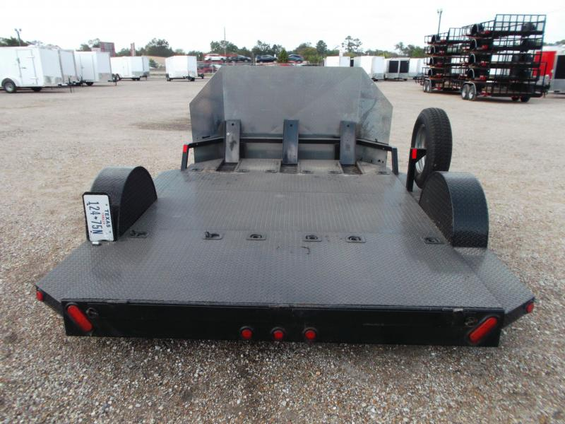 2013 Maxey 82x10 (1 - 3) Bike Motorcycle Hauler Motorcycle Trailer w/ Rock Guard / Spare Tire