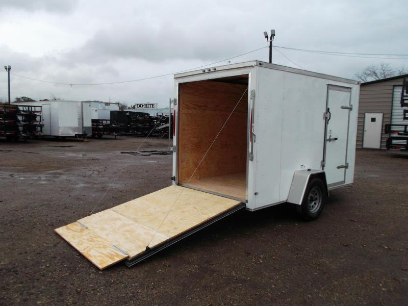 "2019 Texas Select 6x10 Single Axle Cargo Trailer / Enclosed Trailer / 6'3"" Interior / Ramp / Side Door / LEDs"