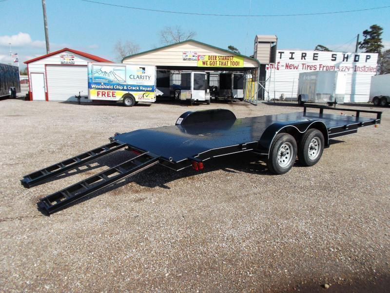 2018 Maxxd 83x20 Steel Deck Car Hauler / Racing Trailer / Powder Coated / 5ft Ramps / 2ft Dovetail
