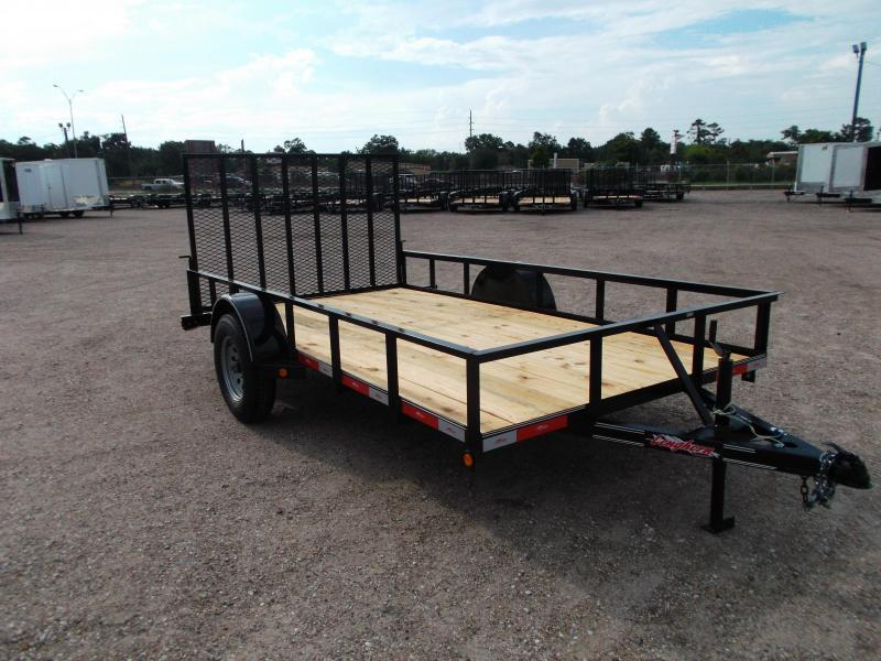 2018 Longhorn Trailers 83x12 Single Axle Utility Trailer w/ Heavy Duty 4ft Ramp