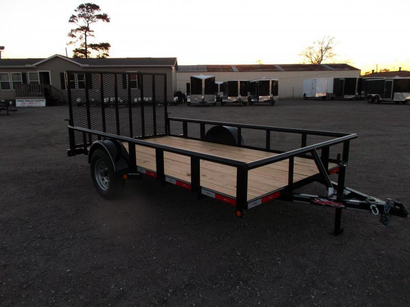 2019 Longhorn Trailers 77x12 Single Axle Utility Trailer / Pipetop / Heavy Duty 4ft Ramp