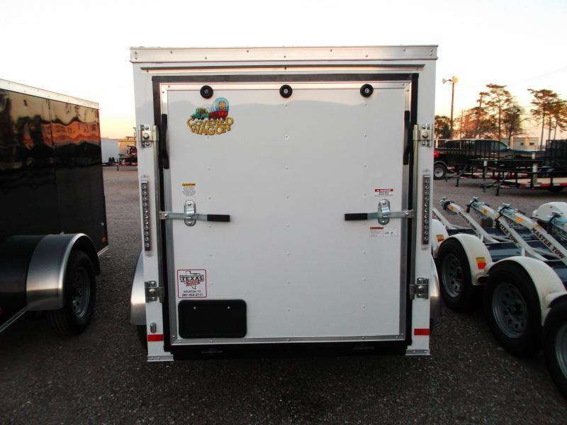 2018 Covered Wagon Trailers 5x8 Single Axle Cargo Trailer / Enclosed Trailer w/ Ramp