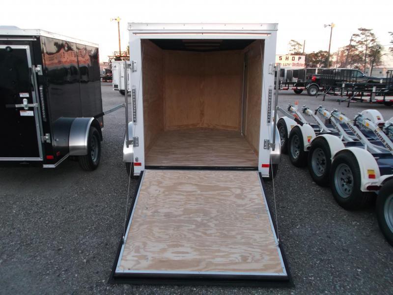2018 Covered Wagon Trailers 5x8 Single Axle Cargo Trailer / Enclosed Trailer w/ Ramp