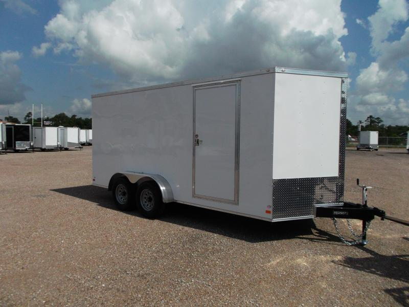 "SPECIAL - 2019 Covered Wagon Trailers 7x16 Tandem Axle Cargo / Enclosed Trailer / 6'6"" Interior / 5200# Axles / Ramp / LEDs"