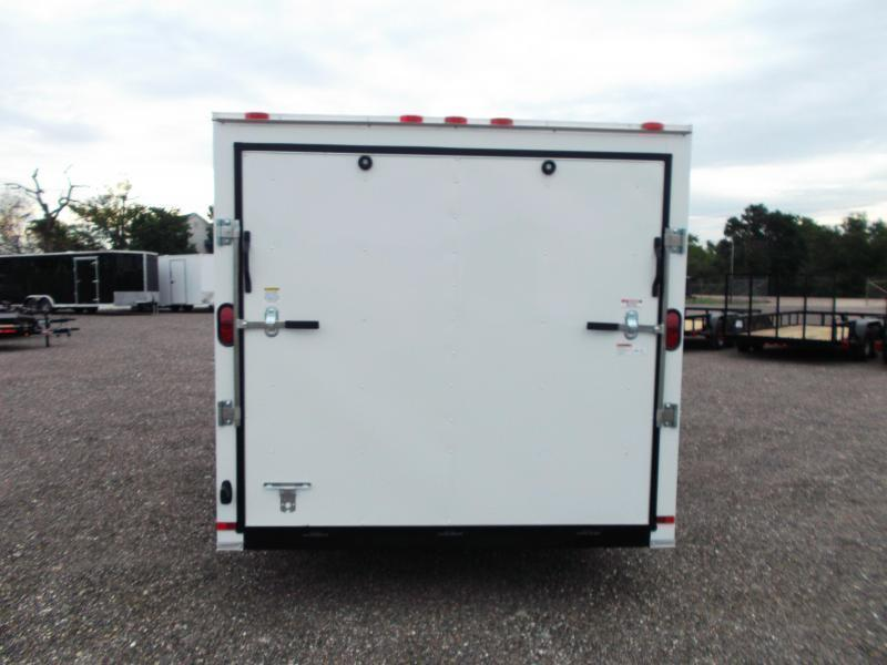 "SPECIAL - 2019 Covered Wagon Trailers 7x16 Tandem Axle Cargo Trailer / Enclosed Trailer / 6'6"" Interior Height / Ramp / RV Side Door"