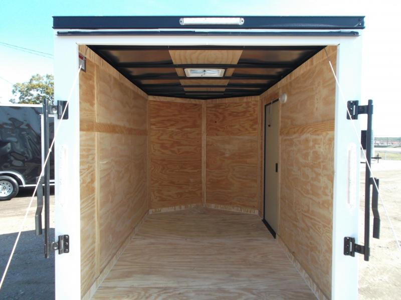 SPECIAL - 2019 Covered Wagon Trailers 6x10 Single Axle Cargo / Enclosed Trailer / Black Out Package / Ramp Gate / RV Side Door / LEDs