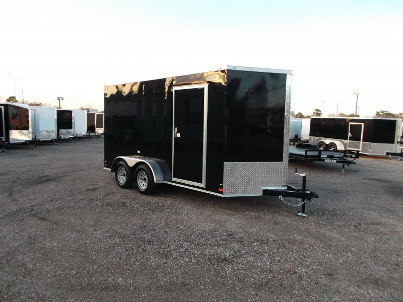 SPECIAL - 2019 Covered Wagon Trailers 7x14 Tandem Axle Cargo Trailer / Enclosed Trailer / 7ft Interior / Ramp / LEDs