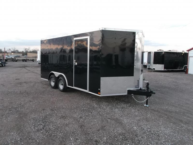 2019 Covered Wagon 8.5x16 Tandem Axle Cargo Trailer / Car Hauler / Ramp / RV Side Door / LEDs