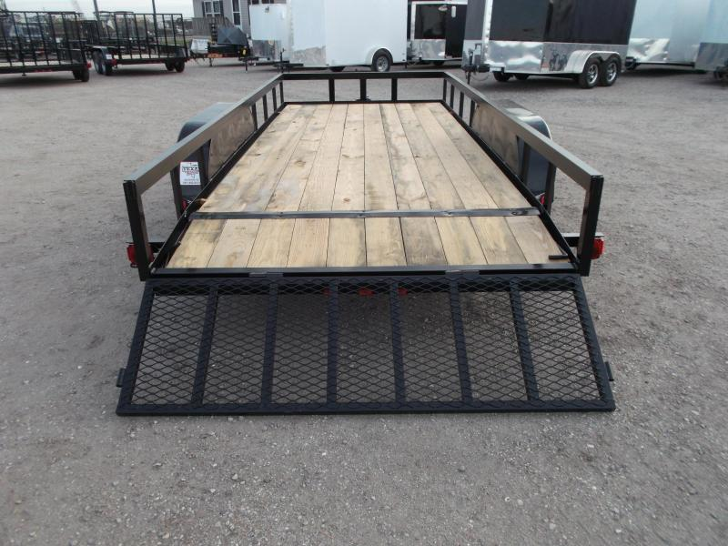 2019 Longhorn Trailers 16ft Utility Trailer / ATV Trailer w/ 2ft Dovetail / 2ft Ramp Gate