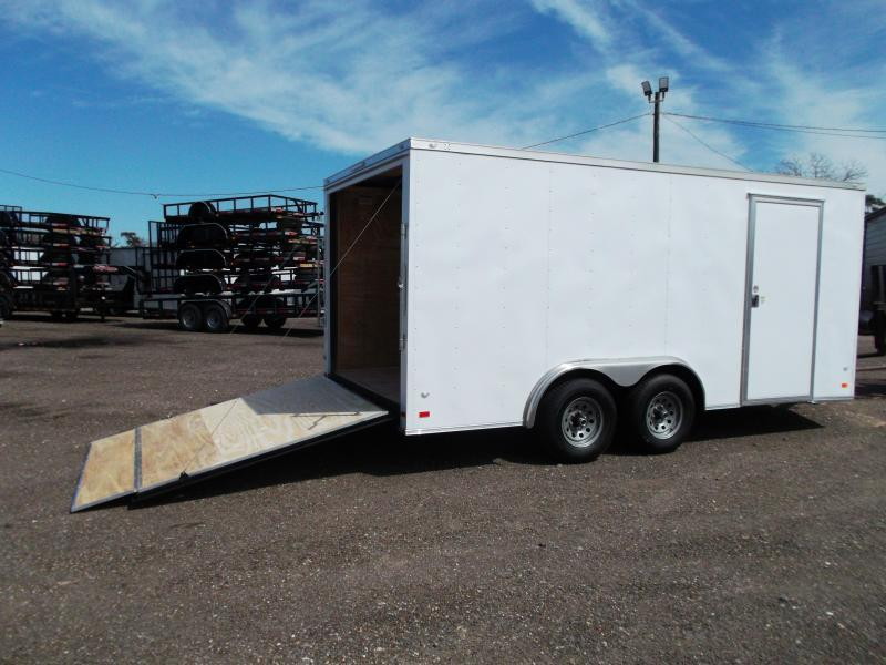 SPECIAL - 2019 Covered Wagon Trailers 8x16 Tandem Axle Cargo / Enclosed Trailer / 5200# Axles / Ramp / LEDs