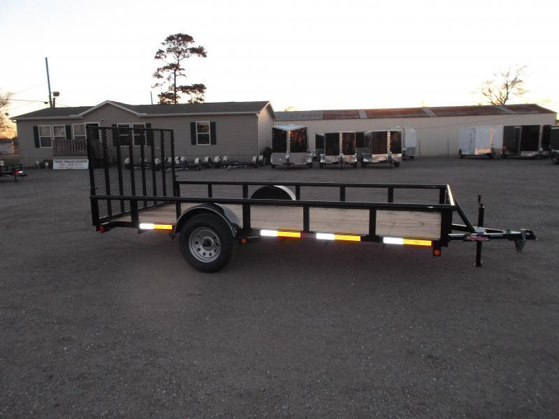 2019 Longhorn Trailers 77x14 Single Axle Utility Trailer / Pipetop / 4ft Heavy Duty Ramp Gate