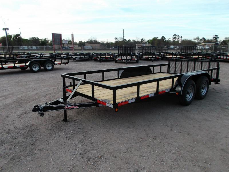 2018 Longhorn Trailers 16ft Utility Trailer / ATV Trailer w/ 2ft Dovetail / 2ft Ramp Gate / Brakes