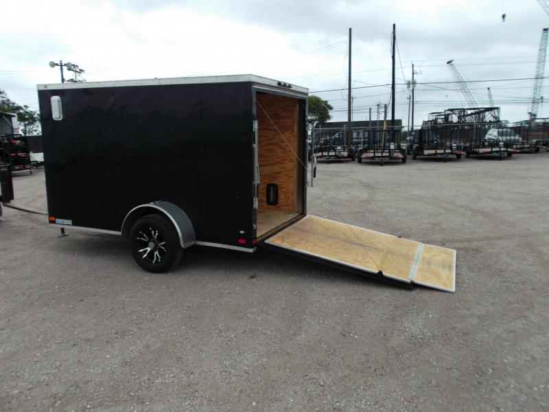 2016 Covered Wagon Trailers 6x10 Semi Low Hauler Motorcycle Trailer