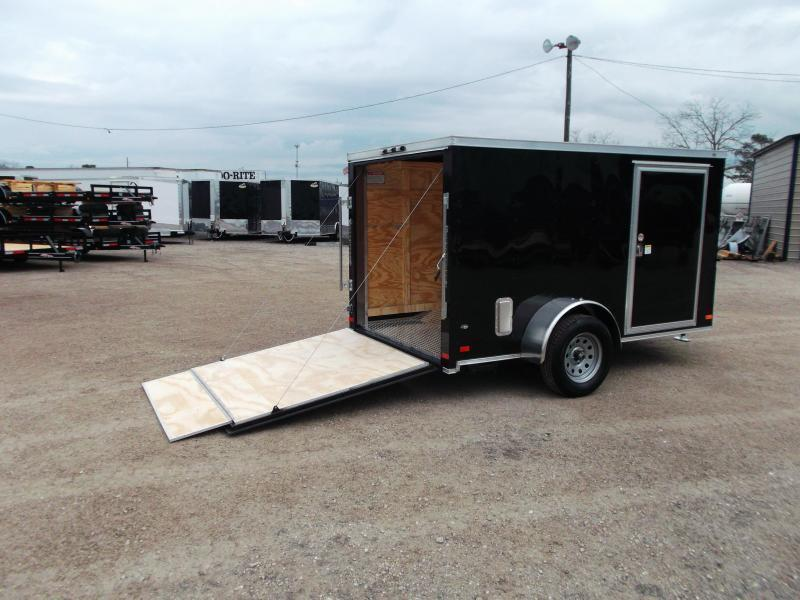 2018 Covered Wagon Trailers 6x10 Low Profile Motorcycle Trailer / Cargo Trailer / Ramp / WHITE Exterior