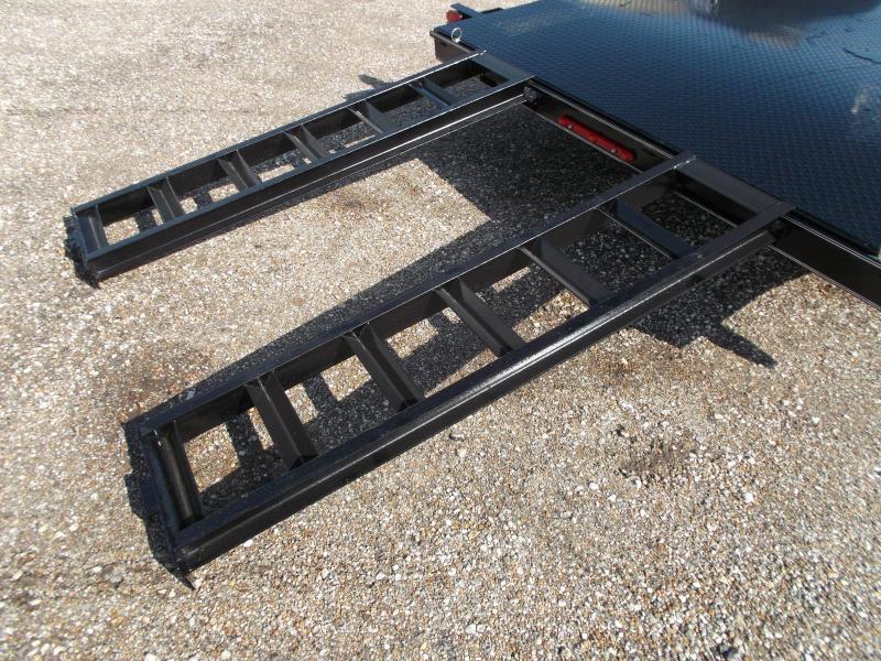 2018 Maxxd 83x20 Steel Deck Car Hauler / Racing Trailer / Powder Coated / 5ft Ramps / 2ft Dovetail