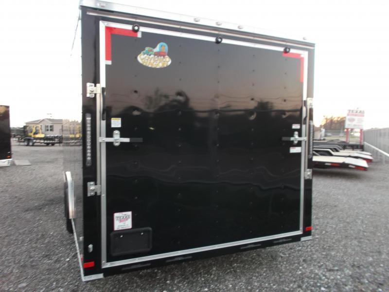 2019 Covered Wagon Cargo 8.5x24 Tandem Axle Cargo Trailer / Enclosed Car Hauler Trailer / 5200# Axles / Ramp / RV Door / LEDs