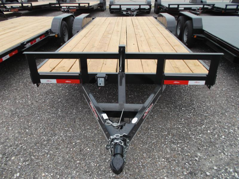 2019 Longhorn Trailers 20ft Tandem Axle 10K Car Hauler / Racing Trailer / Flat Deck / 5200# Axles / 7K Jack / 2ft Dovetail / 5ft Ramps