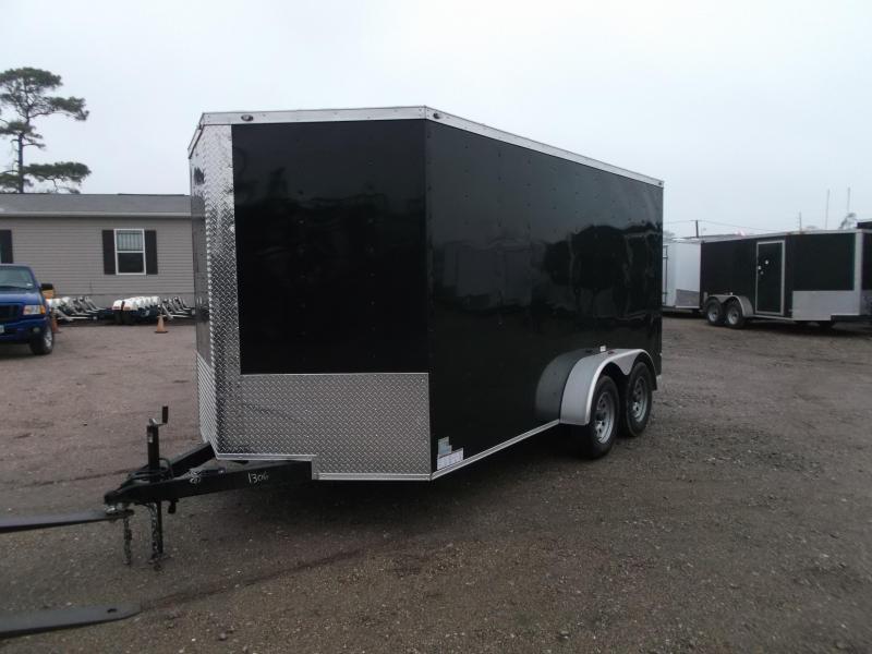 2019 Texas Select 7x14 Tandem Axle Cargo Trailer / Enclosed Trailer / Ramp / 7ft Interior / Side Door / LEDs