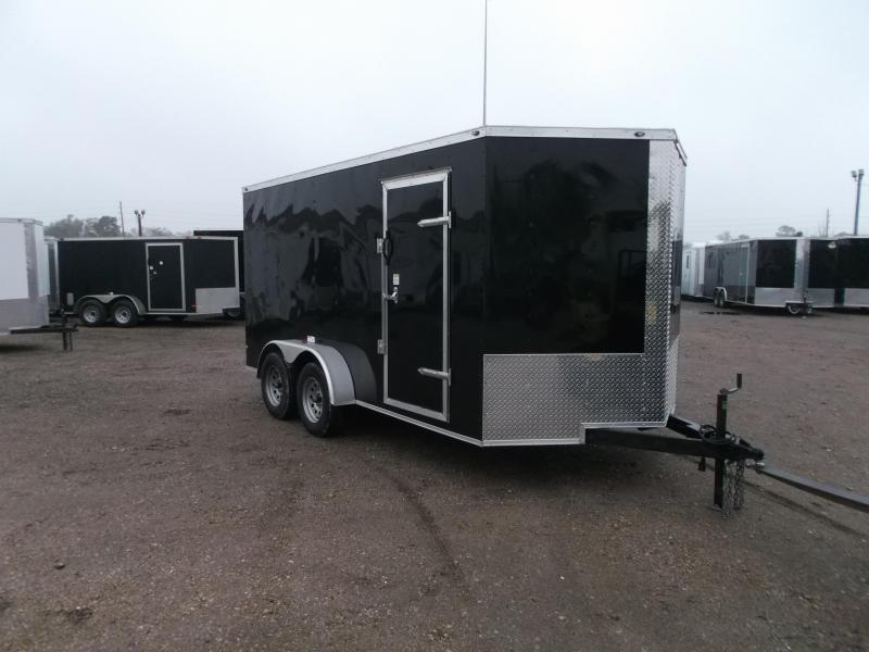 2019 Texas Select 7x14 Tandem Axle Cargo Trailer / Enclosed Trailer / Ramp / 7ft Interior / Side Door / LEDs