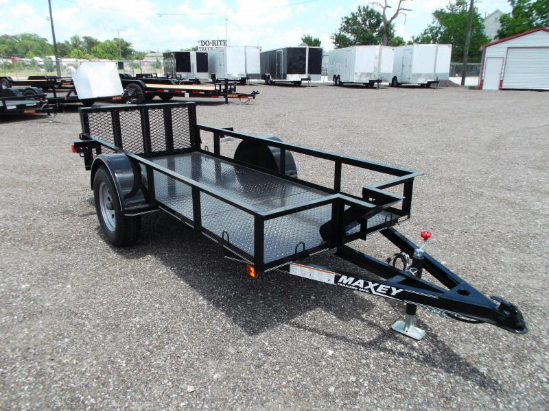 2018 Maxxd 50x10 Motorcycle Trailer / Motorcycle Hauler / Powder Coated / Chock / D-Rings / Steel Deck