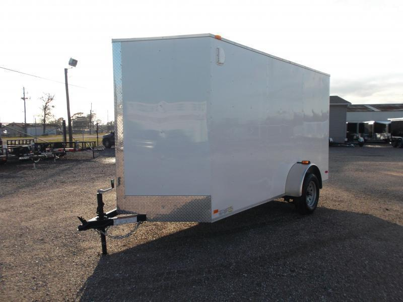 "2018 Covered Wagon Trailers 6x12 Single Axle Cargo Trailer / Enclosed Trailer w/ Ramp / 6'6"" Interior Height / RV Side Door"