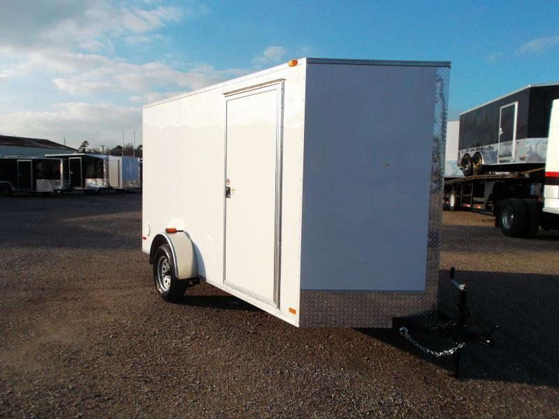 """2018 Covered Wagon Trailers 6x12 Single Axle Cargo Trailer / Enclosed Trailer w/ Ramp / 6'6"""" Interior Height / RV Side Door"""