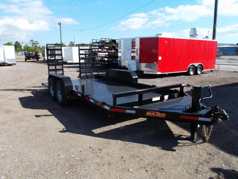 2018 Maxxd Trailers 82x16' Skid-Steer / Bob Cat Trailer Equipment Trailer / Steel Deck / Equipment Ramps / Powder Coated
