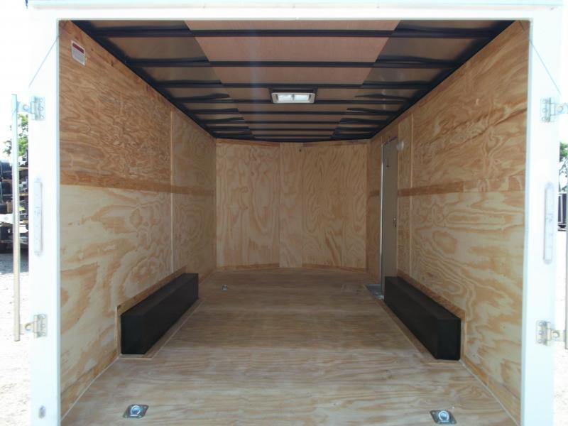 2019 Covered Wagon Trailers 8.5x16 Tandem Axle Cargo / Enclosed Trailer / 7ft Interior / Ramp / RV Side Door / LEDs