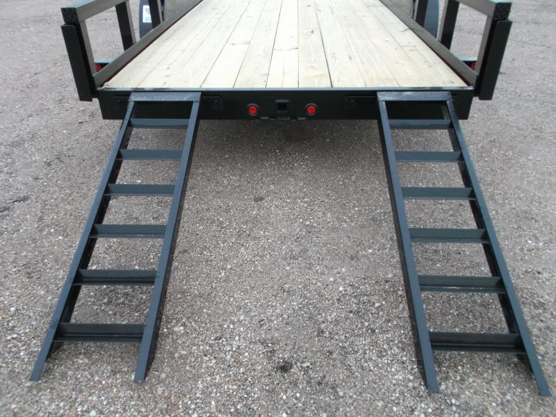 """2018 Longhorn Trailers 83x20 Utility Trailer w/ 7000# Axles / 3"""" Square Tubing / 5ft Ramps"""