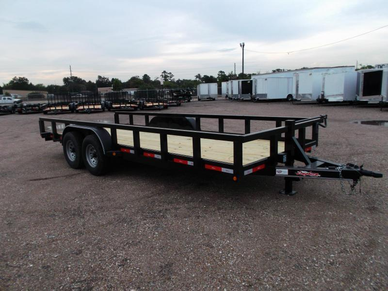 "2018 Longhorn Trailers 83x20 Utility Trailer w/ 7000# Axles / 3"" Square Tubing / 5ft Ramps"