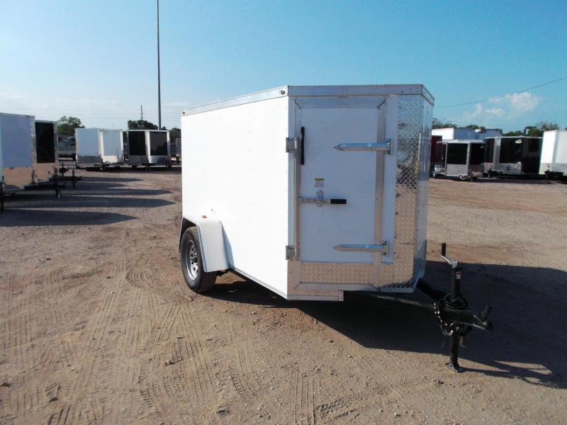 2019 Texas Select 5x8 Single Axle Cargo Trailer / Enclosed Trailer / Ramp / Vnose Door / LEDs