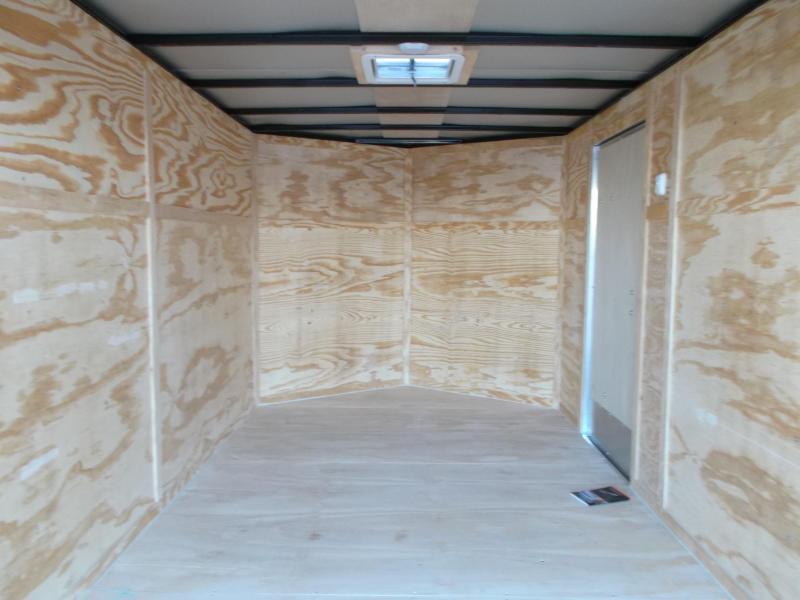 2019 Lark 7x14 Tandem Axle Cargo Trailer / Enclosed Trailer / Barn Doors / LEDs