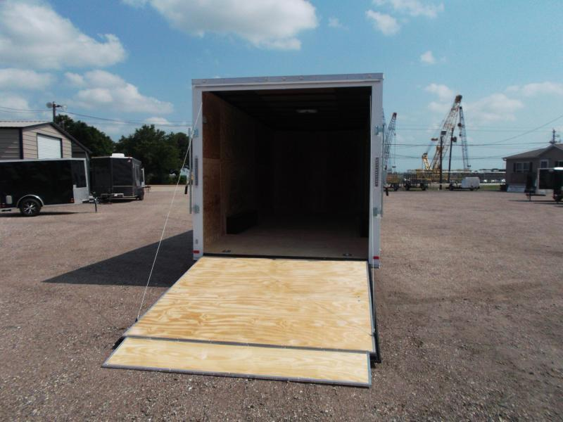 "2019 Covered Wagon Trailers 8.5x20 Tandem Axle Cargo / Enclosed Trailer w/ 7'6"" Interior Height / 5200# Axles / Ramp"