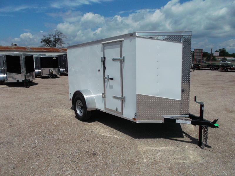 2018 Lark 5x10 Single Axle Cargo / Enclosed Trailer w/ Ramp & Side Door