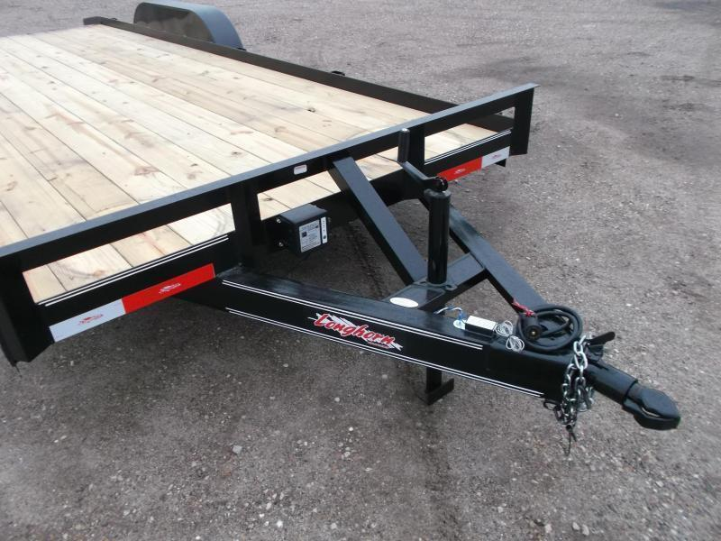 SPECIAL - 2019 Longhorn Trailers 20ft 7K Car Hauler / Racing Trailer / 2ft Dovetail / 5ft Ramps / Brakes