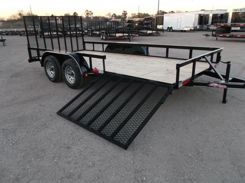 2018 Longhorn Trailers 16ft Utility Trailer / ATV Trailer / Side by Side Trailer / 4ft Rear Ramp / 4ft Side Load Ramp