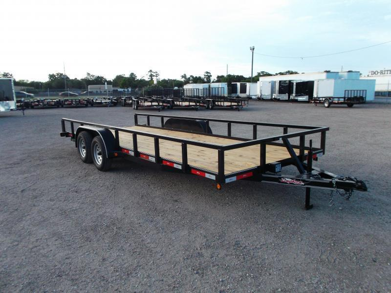 "2019 Longhorn Trailers 83x20 Utility Trailer / 2"" Square Tubing / 5ft Ramps / Brakes"