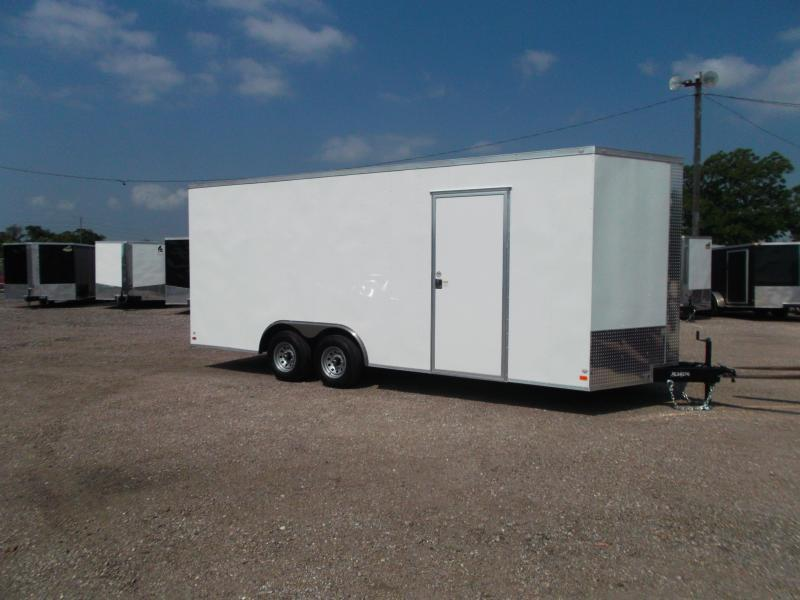 """2018 Covered Wagon Trailers 8.5x20 Tandem Axle Cargo / Enclosed Trailer w/ 7'6"""" Interior Height / 5200# Axles / Ramp"""